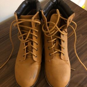 Tan boots size 8